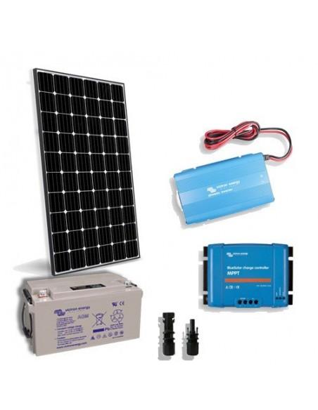 Kit Solaire Chalet Pro2 80W 12V Panneau Regulateur Onduleur Batterie 60Ah