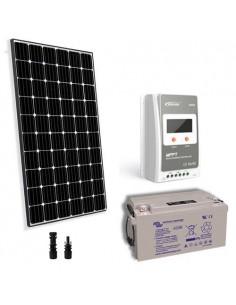 Kit solaire pro 300W 12V Panneau Europèen Regulateur 30A MPPT Batterie 90Ah