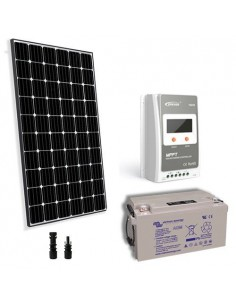 Kit Solare Pro 300W 12V Pannello Europeo Regolatore 30A MPPT Batteria 90Ah