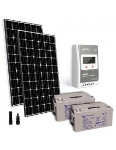 Kit solaire pro 600W 24V Panneau Europèen Regulateur 30A MPPT Batterie 90Ah