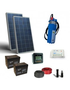 Kit Solar Photovoltaic Water Pumping for 150W 24V - 320 L/h with prevalence 40mt