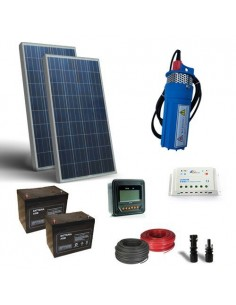Solar Kit Watering 130W 24V 170 L/h prevalence 30mt Pumping Photovoltaic
