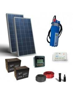 Kit Solaire Arrosage 130W 24V 170 L/h Prevalence 30mt Pompage Photovoltaique