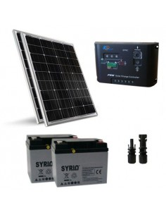 200W 24V Solar-Kit Pro Sonnenkollektor Panel Mono Laderegler 10A Batterie 60Ah