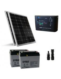 Kit Solare Pro 200W 24V Pannello Fotovoltaico Mono Regolatore 10A Batteria 60Ah