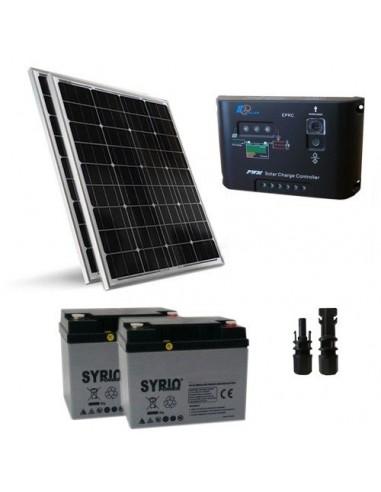 Kit solaire pro 100W Panneau Solaire Regulateur de Charge 10A - PWM Batterie