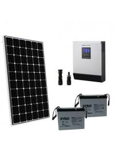 Solar-Kit Hütte 260W 12V Pro2 Solarmodul Photovoltaik Wechselrichter 1200W 12V