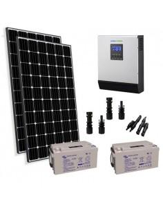 Kit solare baita 600W 24V Pro pannello regolatore inverter 3000W batteria 110Ah