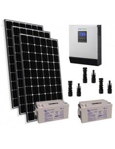 Kit Solaire Chalet 900W 24V Pro Panneau Europèen Onduleur 3000W batterie 110Ah