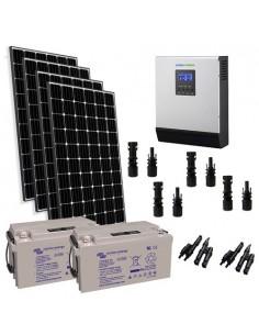 Kit solare baita 1200W 24V Pro pannello Europeo inverter 3000W batteria 165Ah
