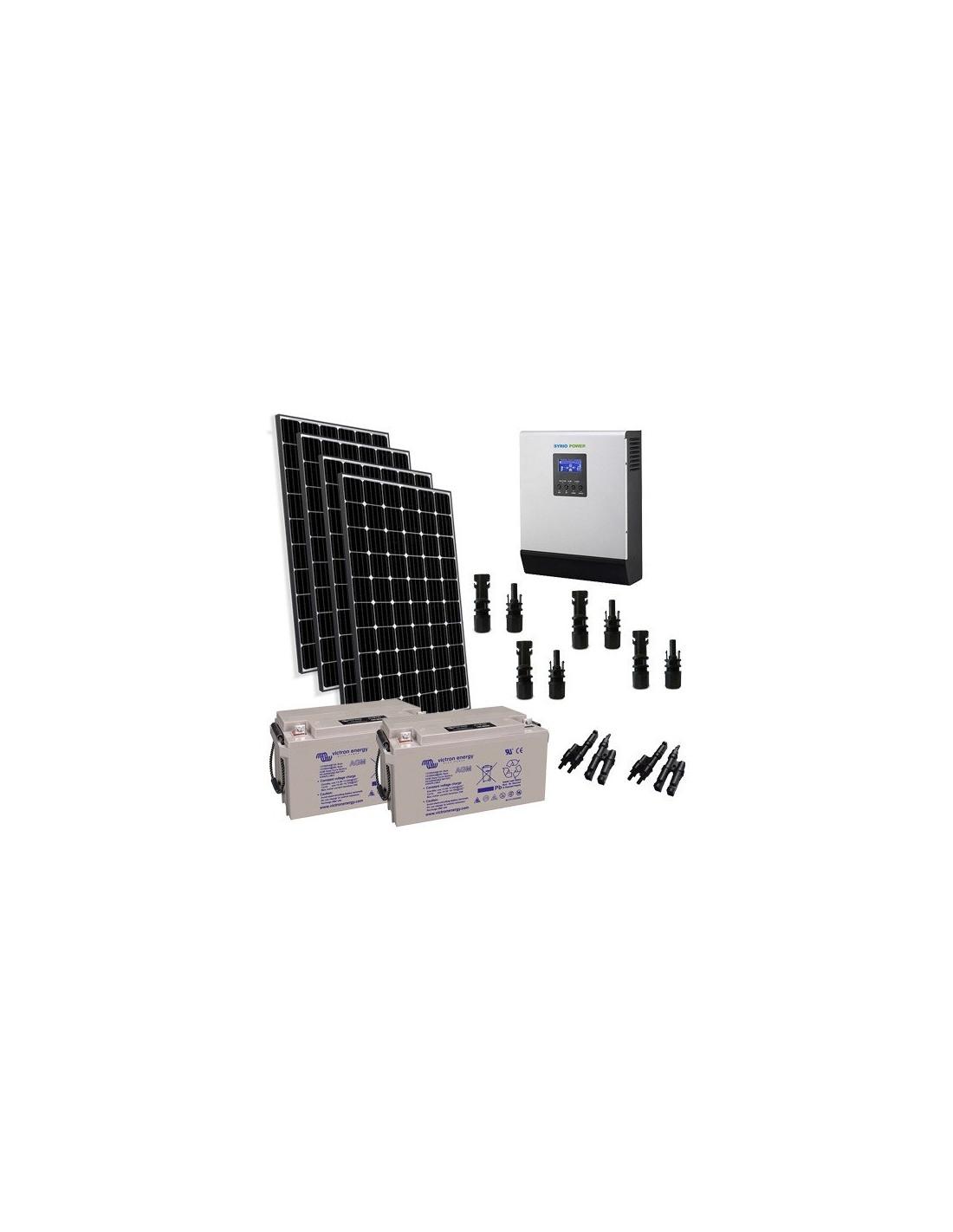 Kit Pannello Solare Batteria Inverter : Kit solare baita w v pro pannello europeo inverter