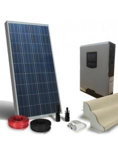Kit Solare Camper 130W LUX Pannello Inverter 800W 12V Fotovoltaico RV Caravan