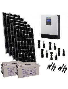 Kit solare baita 1500W 24V Pro pannello Europeo inverter 3000W batteria 220Ah