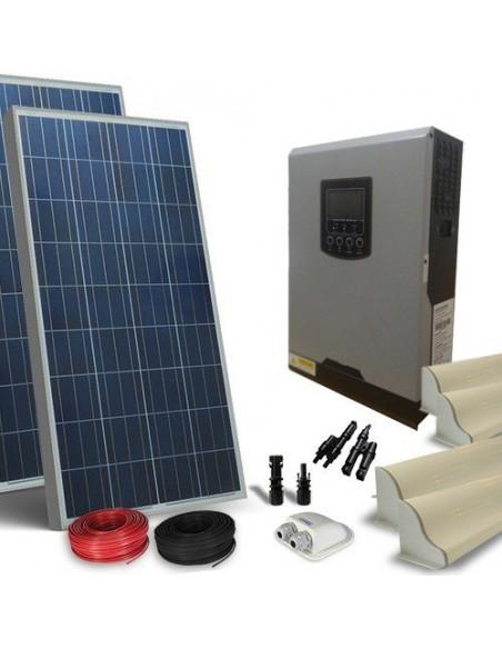 Kit Solaire Campeur 300W Lux Panneau Onduleur 800W 12V Photovoltaique RV