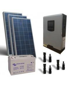 300W 12V Cabin Solar Kit Pro Panel Inverter Battery Charger Controller MC4