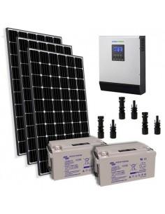 Kit Solaire Chalet 900W 24V Pro Panneau Europèen Onduleur 3000W batterie 90Ah