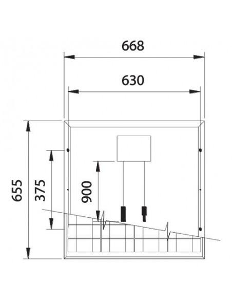 Set 10 x 50W 12 Panneau Solaire Photovoltaique tot. 500W Camper Bateau Hutte