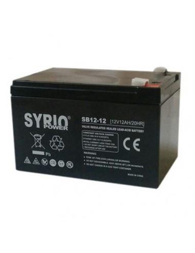 Batteria 12Ah 12V AGM Syrio Power Fotovoltaico nautica camper veicoli elettrici