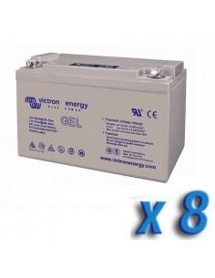 Set 8 x Batería 90Ah 12V GEL Deep Cycle Victron Energy Fotovoltáico Cámper