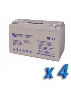 Set 4 x Batería 90Ah 12V GEL Deep Cycle Victron Energy Fotovoltáico Cámper