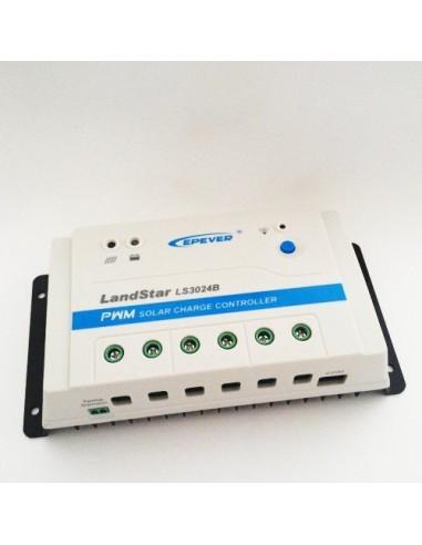 Regolatore di Carica PWM 30A 12/24V EP Solar New LandStar Fotovoltaico