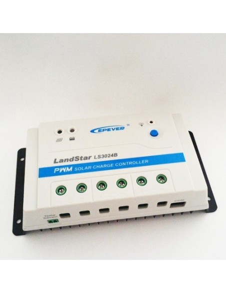 Regulateur de Charge Solaire PWM 30A 12/24V EP Solar New LandStar