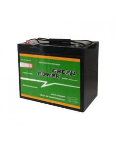 Battery 80Ah 12V AGM NDS GREEN POWER SLIM Photovoltaic Camper Caravan