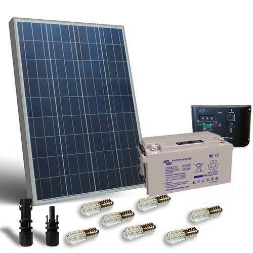 Kit Pannello Solare 100w : Kit solare votivo w v pannello regolatore led