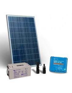Kit Solaire 100W 12V Pro2 Panneau Contrôleur de charge 10A MPPT Batterie 90Ah