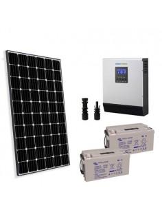 Kit Solaire Chalet 300W 24V Pro Panneau Europèen Onduleur 3000W batterie 90Ah
