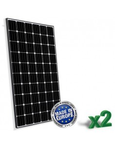 Set 2 x 300W 24V European Solar Panel Peimar Black Frame Monocrystalline House