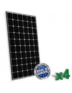 Set di 4 Pannelli Solari Fotovoltaico Europeo 300W Totale 1200W Monocristallino