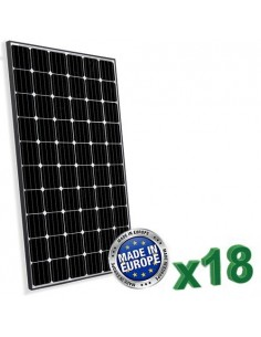 Set di 18 Pannelli Solari Fotovoltaico Europeo 300W Totale 5400W Monocristallino