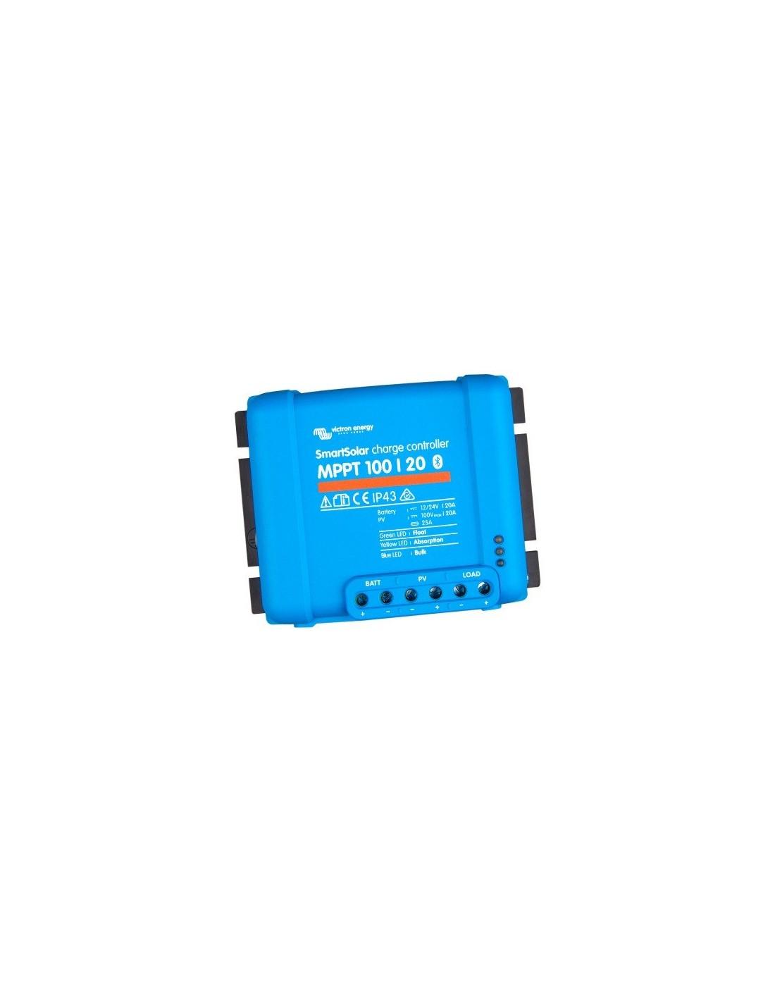 Victron Energy Regolatore di Carica Solare BlueSolar MPPT ed Adatti Accessori 9. MPPT Controllo + 1,8 m Cavo