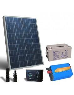 Solar-Kit Hütte Pro 80W 12V Solarmodul Laderegler Wechselrichter batterie 60Ah