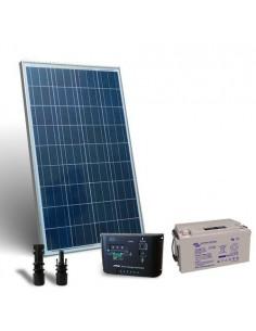 Kit Solare Pro 100W 12V Pannello Fotovoltaico Regolatore 10A PWM Batteria 60Ah