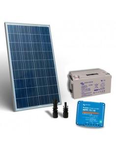 Kit Solare 100W 12V Pro2 Pannello Fotovoltaico Regolatore 10A MPPT Batteria 60Ah