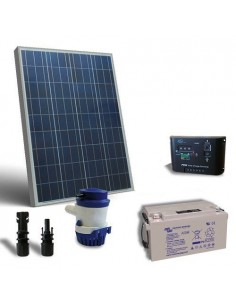 Sonnen Bewasserung Set 63 l/m 12V Solarpanel Laderegler Solar Pump Batterie 60Ah