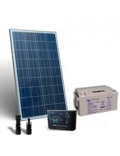 Kit solaire pro 80W Panneau Solaire Regulateur de Charge 10A - PWM Batterie 60Ah