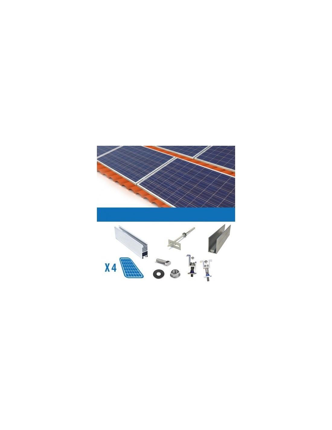 Kit Pannello Solare Fotovoltaico : Kit fissaggio pannello con spessore cm tetto a falda