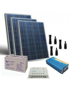 Kit Solaire Chalet Pro 300W 12V Panneau Batterie Onduleur Batterie 110Ah GEL
