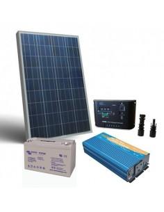 Solar-Kit Hütte Pro 150W 12V Solarmodul Wechselrichter Batterie 110Ah GEL