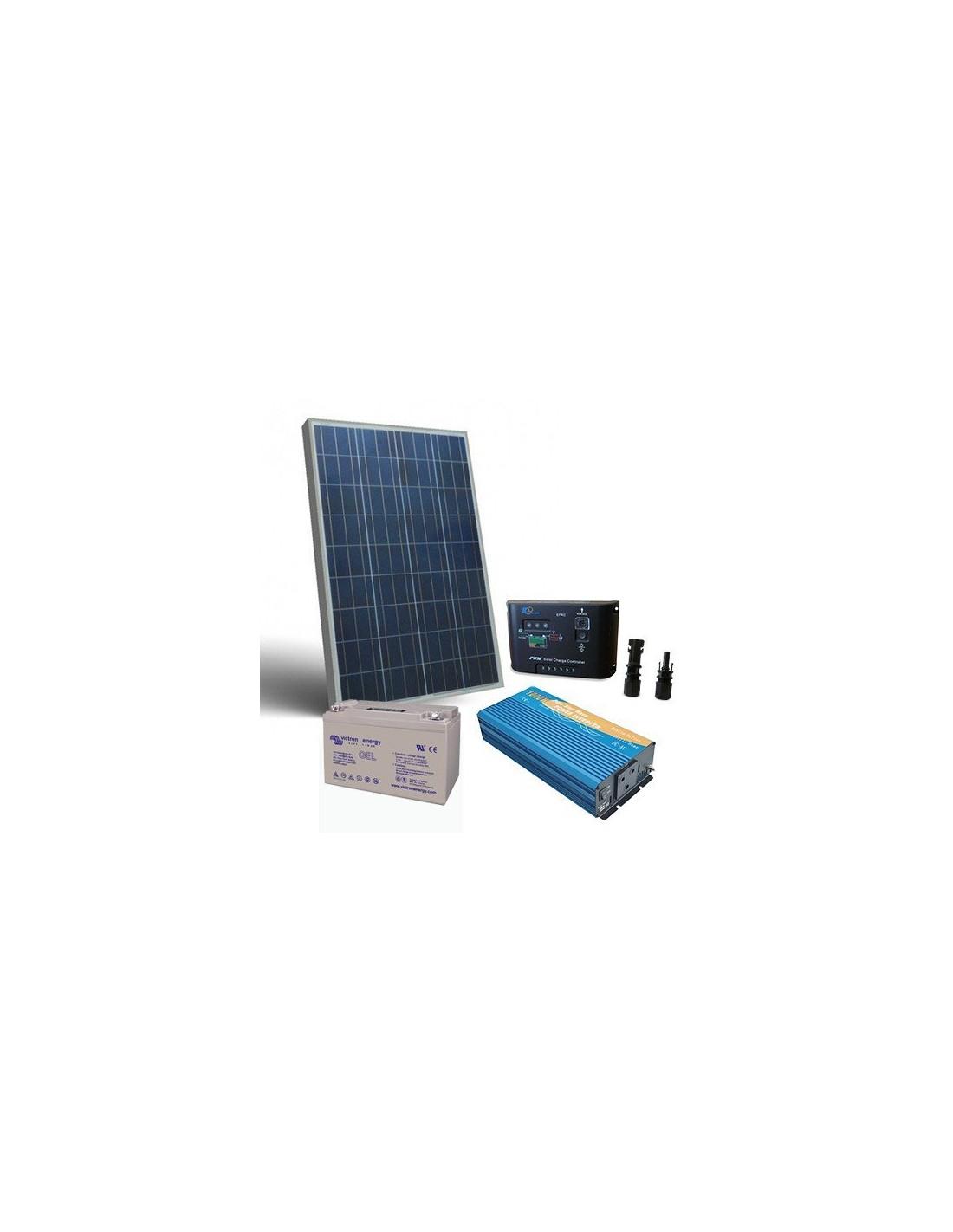 Kit Pannello Solare Batteria Inverter : Kit solare baita w v pro pannello inverter batteria