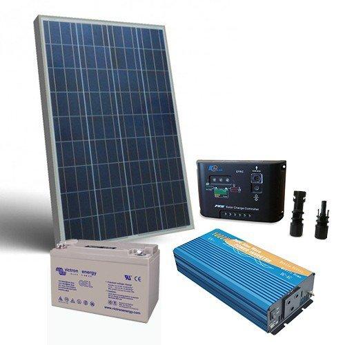 Kit Pannello Solare Con Inverter : Kit solare baita w v pro pannello inverter batteria