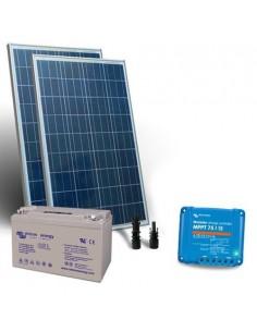 Kit Solare 160W 12V Pro2 Pannello Regolatore 15A MPPT Batteria 110Ah GEL