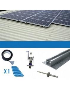 Kit fixation 1 panneau épaisseur 3-3.5cm Toits Ondulés Solaire Photovoltaïque