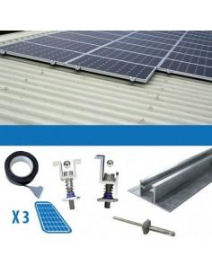 Kit Installation 1 Panel mit Dicke 3-3.5cm Dächern Gewellt Photovoltaik Solar