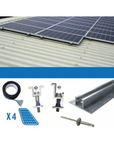 Mounting kit 1 panel with thickness 3-3.5cm Corrugated Roofs Solar photovoltaic