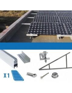 Kit fixation 1 panneau épaisseur 4-5cm Toits Plats Solaire Photovoltaïque