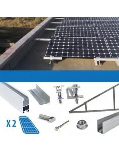 Kit fissaggio 1 pannello con spessore 4-5cm Tetto Piano Solare Fotovoltaico